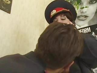 Homosexual police community support officer - Brunette shorthair bbw russian police officer fucks