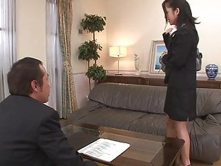 Japanese eel sex Brunette slut gets a warm creampie by her boss