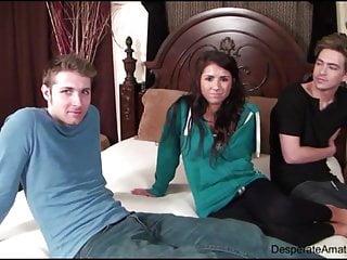 Danielle fox interracial Casting danielle aka evi fox desperate amateurs threesome
