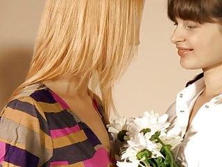 Sweet lesbian kissing The sweetness between them