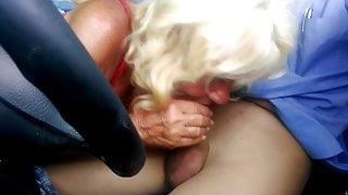 Granny suck cock in pantyhose p3