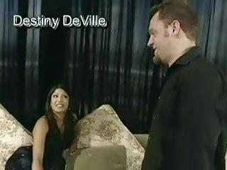 Destiny deville porn viedos Destiny deville gives sloppy blowjob