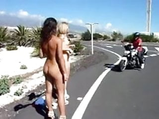 Road rules nude pictures - Naomi1 nude on a road side
