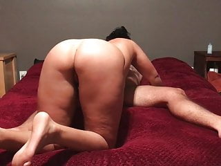 Amateur girl on top - Chunky bitch rides for cum. cowgirl. girl on top.
