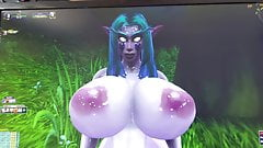 Cum Tribute for the nice elf  Kyalani