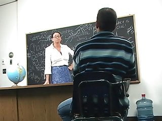 Busty teachers with students Busty teacher fucked by a student in classroom on the desk
