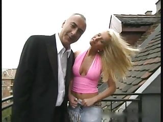 Budapest nudist - Old man and a blonde babe from budapest