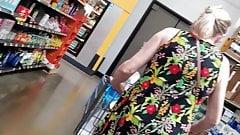Mature wearing short dress upskirt pt.3