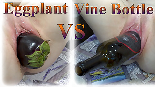 Vine bottle vs eggplant! Who is the best stretcher?