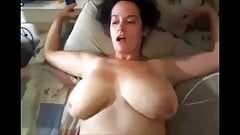 Big tits bouncing all over the room as she squirts on cock