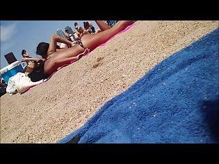 Nipple slip voyeurs - Spanish teen nip slip at beach