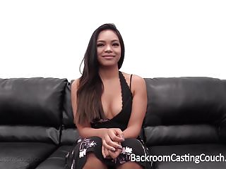 Casting couch free porn videos Anal creampie for black asian babe on casting couch