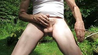 Outdoor masturbation.