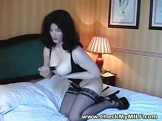 Nude models in black stockings - Sexy bbw milf in black stockings playing with toy