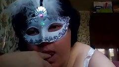 BBW mature in mask