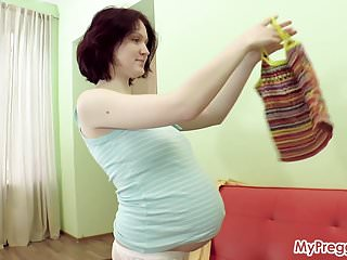 Pregnant nude midget Pregnant anastasia plays with her nude body