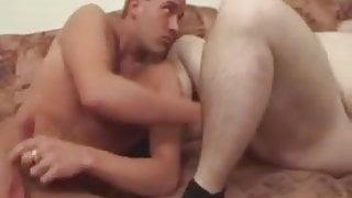 A fat granny fucks a young boy