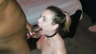 Submissive blonde girl sucks her BBC master