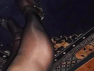 Im in love with pantyhose Geil in strumphosen und heels im bett