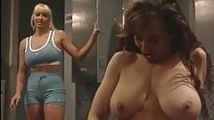 Big Tits Lesbo Masturbation at the Gym