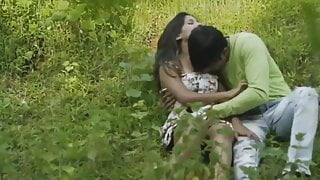 Young college couples fucking in forest