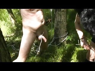 Naked whipped torture Slave outdoor tortur