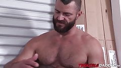 Jake Morgan gets his large dick sucked of by an ebony stud