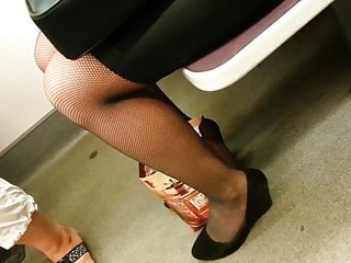 Tobacco in pantyhose sexy Candid pantyhose sexy legs 281-1