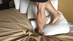 Muscular legs trample
