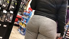 PHAT BOOTY BBW IN GRAY SWEATS