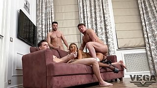 MONICA FOX HAS DOUBLE ANAL PISSING GANG BANG BACKSTAGE 1