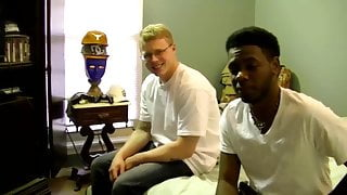 Big black cock dude fucking a white dude in the ass