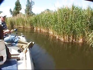 Outdoor sex while fishing Fishing sneak