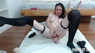 Big Dildo Ass Fuck With Squirting Orgasm
