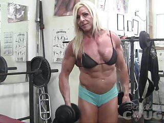 Short nude bodybuilding females - Female bodybuilder lacey works out and masturbates
