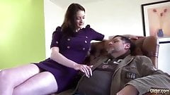 very beautiful american girl sex with oldaman
