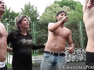 Basketball players have the biggest dicks Promiscuous grandma gangbanged by basketball players