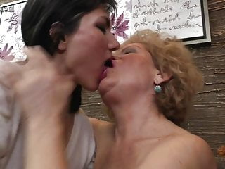 Old and young fucking Four old and young lesbians fuck each other