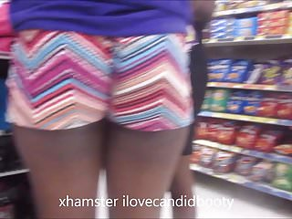 Sexy ebony in booty shorts Jiggly ass ebony gilf in booty shorts