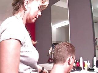 Customer bikini video German mother fucks public with customer after hairdressing