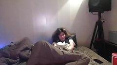 Teen caught masturbating under covers