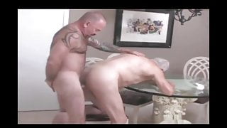 Muscled daddy fuck Old Grandpa