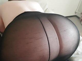 Jerkking off in moms pantyhose Jerk off on black pantyhose