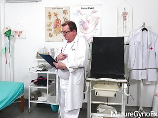Orgasm exam examination doctor Hot girl luci angel on her gyno exam