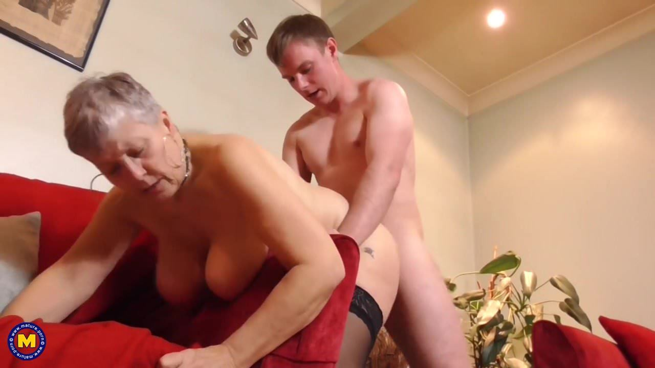 Mature Milking Young Cock