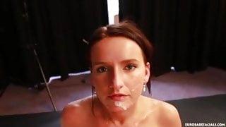 Suck fuck and unhappy facial
