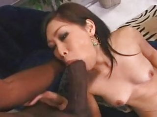 Tasty black pussy Little asian blows a huge, black, tasty snake