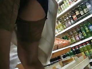 Asian stock market opening - Upskirt stockings in a market
