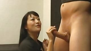 Asian harsh handjob 1
