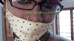 Indian crossdresser slut Lara D'Souza sexy video in saree 1